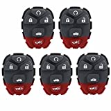 5 KeylessOption Replacement 5 Button Keyless Entry Remote Key Button Pad Compatible with 22733524