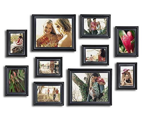 10 Piece Picture Frame Set, Photo Frames Set - Matte Black (Set Picture Frame)