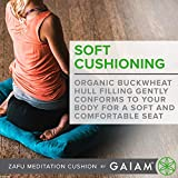 Gaiam Meditation Cushion Zafu Yoga Pillow, Purple