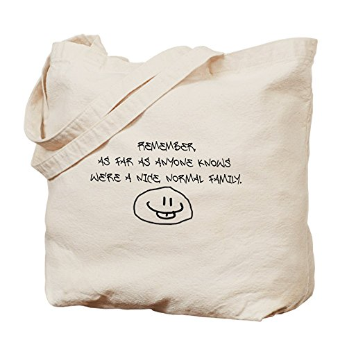 Cafepress–Nice, Normal Family–Borsa di tela naturale, tessuto in iuta