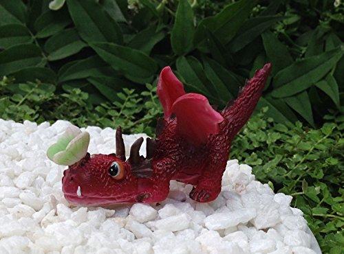 Mini RED Dragon Playing w Butterfly Figurine Miniature Dollhouse FAIRY - Slide Vine Sunglasses