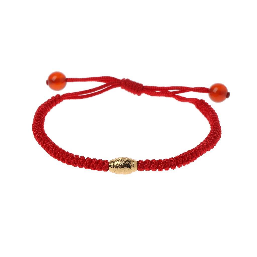 Fahou Hecho A Mano Pulsera Kabbalah Red String Mal De Ojo Protecci/ón con Suerte De Perlas De Oro