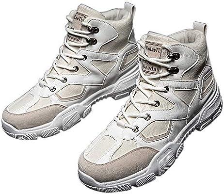 JUNMAONO Botas para Hombre, Calzado Deportivo, Zapatos Altos ...