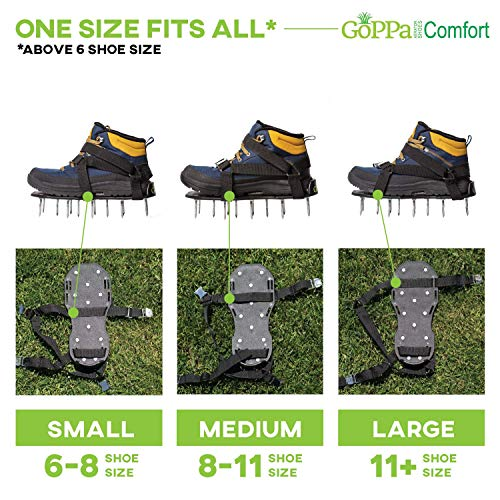 GoPPa Lawn Aerator Shoes – Easiest to USE Lawn Aerator Sandal, You only FIT Once. Ready for aerating Your Yard, Lawn, Roots & Grass – Comfort Design by GoPPa (Image #2)