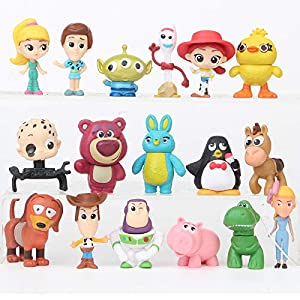 17 Pcs Mini Figurines for Kids – Collectible Toy Story Cake Toppers – Great Party Favors for Toddlers – Toy Story Birthday Party Cake Decoration Supplies