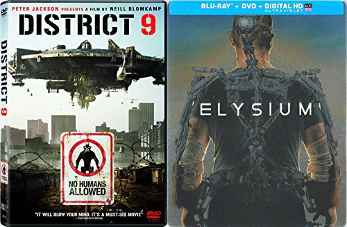 Elysium Exclusive Steelbook Edition & District 9 DVD 2 Pack Sci-Fi Actrion Movie Set