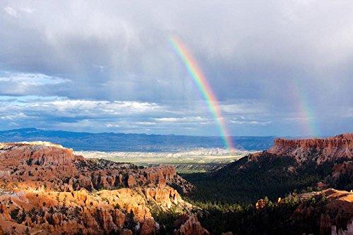LAMINATED 36x24 inches Poster: Bryce Canyon Utah Rainbows Do