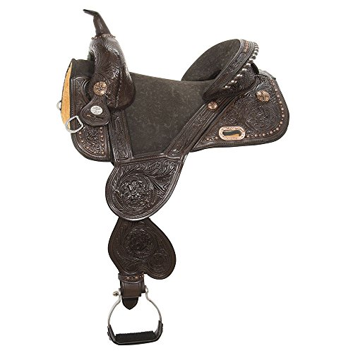 Circle Y Treeless Barrel Saddle 14.5 Chocolate