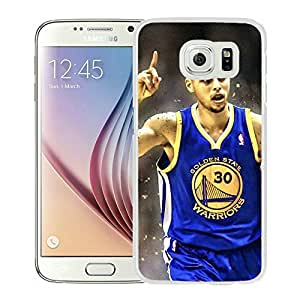 New Custom Design Cover Case For Samsung Galaxy S6 Golden State Warriors Stephen Curry 3 White Phone Case