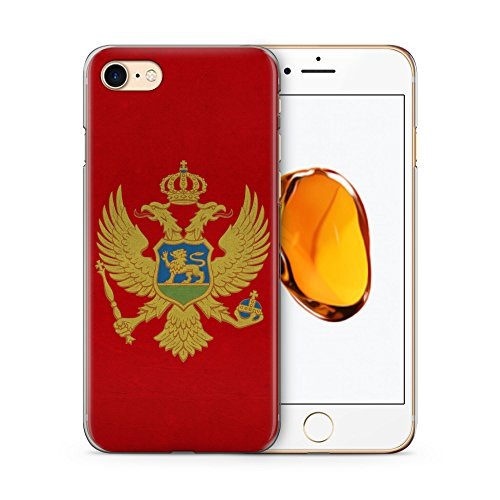 Montenegro Flagge Flag Hülle für iPhone 7 SLIM Hardcase Cover Case Handyhülle