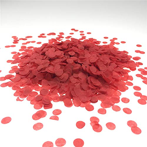 (Red Confetti 10mm Tissue Paper Confetti Circles for Party Wedding Decoration 3000)