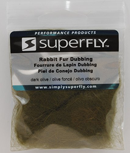 Superfly Rabbit Fur Dubbing (Dark Olive)