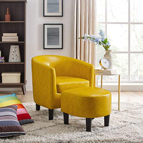 Oadeer Home Sofas, Yellow (Chair Yellow Accent)