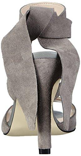 Vero Moda Vmmalene Leather Sandal - Sandalias de Talón Abierto Mujer Gris (High-Rise)