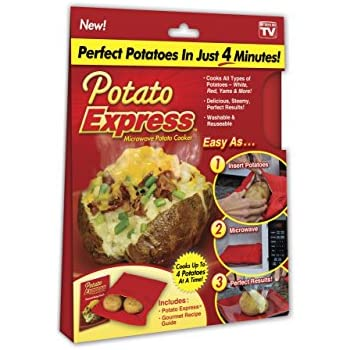 Potato Express Microwave Potato Cooker, Perfect Potatoes in Just 4 Minutes! – As Seen On TV
