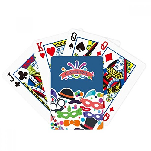 Glasses Hat Mask Happy Carnival Of Venice Poker Playing Card Tabletop Board Game Gift by beatChong