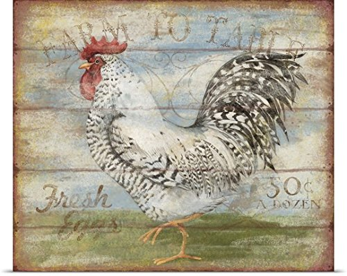 Susan Winget Poster Print entitled Farm to Table Rooster