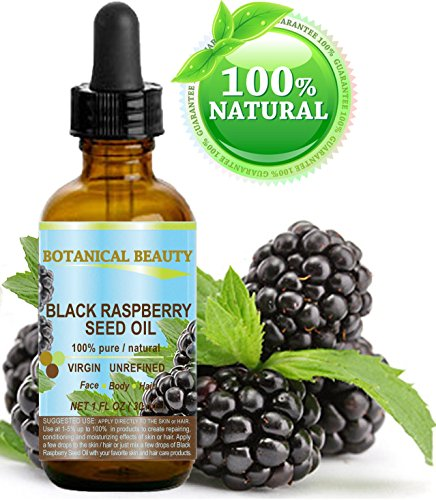 BLACK RASPBERRY SEED OIL. 100% Pure / Natural / Undiluted / Virgin / Unrefined / Cold Pressed Carrier oil. 1 Fl.oz.- 30 ml. For Skin, Hair, Lip and Nail Care.