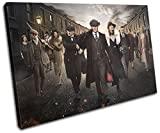 Bold Bloc Design - Peaky Blinders Television Show TV 90x60cm SINGLE Canvas Art Print Box Framed Picture Wall Hanging - Hand Made In The UK - Framed And Ready To Hang 13-2481(00B)-SG32-LO-D