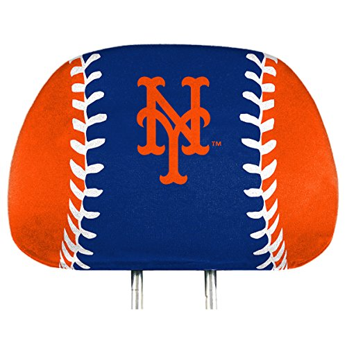 ProMark New York Mets Printed Full Color 2-Pack Head Rest Covers Elastic Auto Baseball