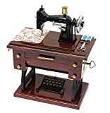 antique sewing machine table MAYMII Vintage Mini Sewing Machine Style Plastic Music Box Table Desk Decoration Toy Gift for Kid Children