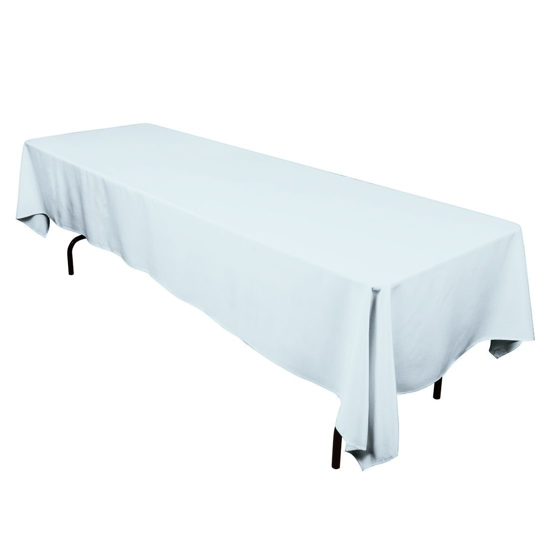Gee Di Moda Rectangle Tablecloth - 60 x 126 Inch - Baby Blue Rectangular Table Cloth for 8 Foot Table in Washable Polyester - Great for Buffet Table, Parties, Holiday Dinner, Wedding & More GDMPRT60126BB