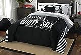 MLB Chicago White Sox Grand Slam Two Sham Set, Black, Full/Queen Size
