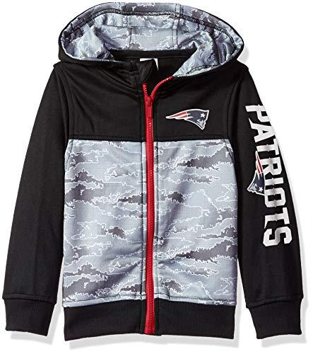 NFL New England Patriots Unisex Hooded Jacket, Black, 4T