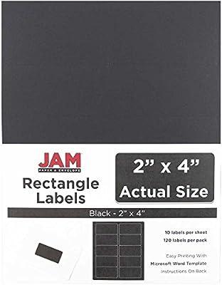 jam paper mailing address labels medium 2 x 4 black 120pack