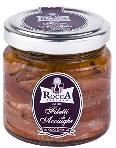 Fillets of anchovies in olive oil in jar 3.74 oz / 106g the finest from Sardinia Italy