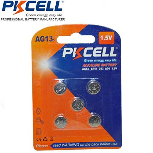 5 Pack LR44 L1154 AG13 357 A76 303 SR44 Battery 1.5V Button Cell Batteries