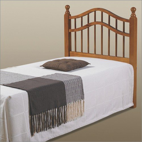 Double Rail Headboard in Honey Full/Queen by Donco