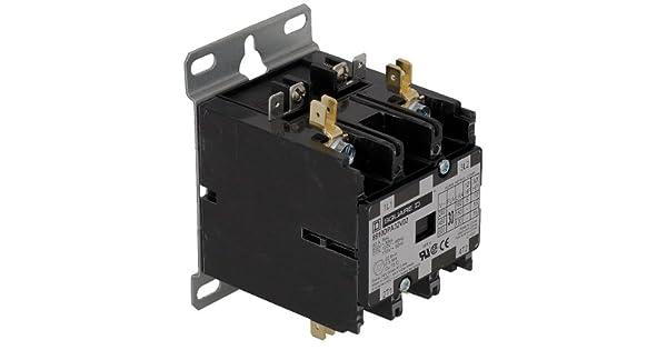 SQUARE D 8910DPA22V04 277VAC Non-Reversing Definite Purpose Contactor 2P 25A