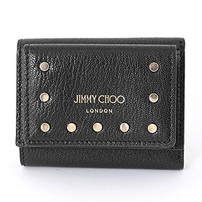 新作 三つ折り財布 カーフスキン/ NEMO CST 0001 ジミーチュウ 財布 スタッズ JIMMY CHOO