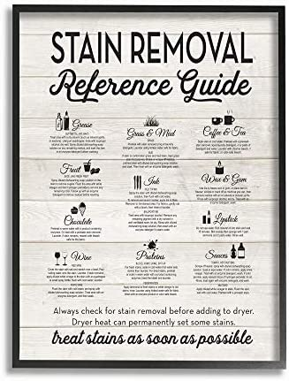 The Stupell Home Decor Stain Removal Reference Guide Typography 16x20 Multi-Color Stupell Industries wrp-1150/_cn/_16x20