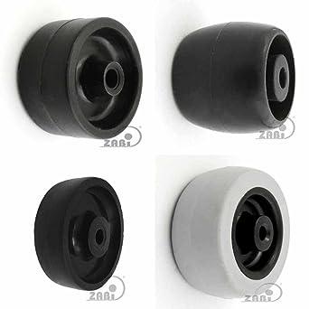 ZAB de S Muebles Rollo ruedas plástico Muebles Cilindro de rueda de ...