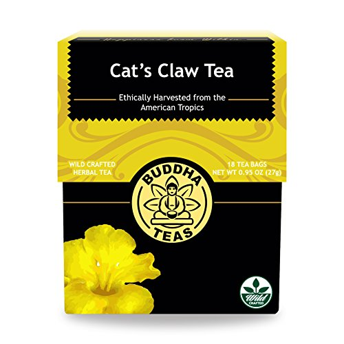 Cats Claw Tea Bags (Cat's Claw Bark Tea - Wild Harvested, Kosher, Caffeine-Free, GMO-Free - 18 Bleach-Free Tea Bags)