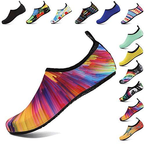 Coolloog Unisex Water Shoes Barefoot Quick-Dry Aqua Yoga Socks Beach Exercise Shoes for Men Women Kids