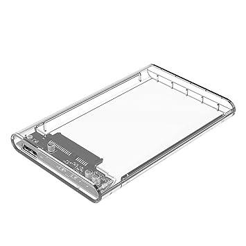 Carcasa para disco duro externo SATA HDD SSD (USB 3.0, 2,5 ...