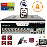 Evertech 16 Channel H.264 HD AHD TVI CVI Analog HDMI Cloud QR Scan Support CCTV Security Surveillance DVR +2TB HDD