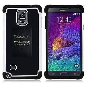 For Samsung Galaxy Note 4 SM-N910 N910 - creativity intelligent having fun quote Dual Layer caso de Shell HUELGA Impacto pata de cabra con im????genes gr????ficas Steam - Funny Shop -