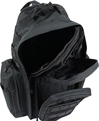 Systempack Rucksack mit vielen Taschen Schwarz OneSize
