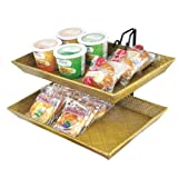 Cal-Mil 1290-2 Tiered Tray Merchandiser, 18'' Width, 15'' Diameter, 15'' Height, Bamboo