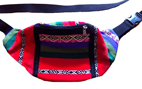 Wallet Waist Pack Hippy Bumbag Fair 493 Peruvian Purse red Trade Funky fwTcFaXq