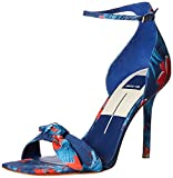 Dolce Vita Women's HELANA Heeled Sandal, Blue Multi Floral Print, 8 M US