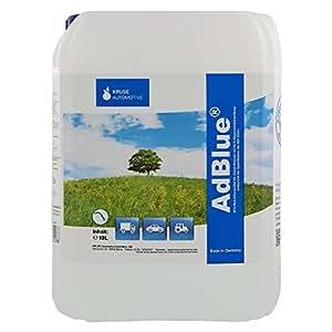 Solución de urea de alta pureza de AdBlue para SCR Postratamiento de gases de escape 10 Litros incl. Tubo de alimentación