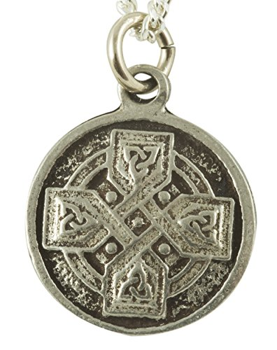 Fine Celtic Cross Necklace - Equal Sided Cross in Solid Pewter