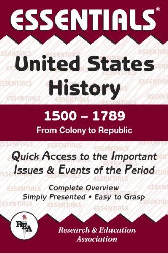 United States History: 1500 to 1789 Essentials (Essentials Study Guides)