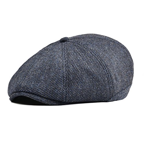 497e418af0f VOBOOM Mens Wool Blend Newsboy Cap 8 Pannel Hat Tweed Cap Herringbone Cabbie  Flat Cap