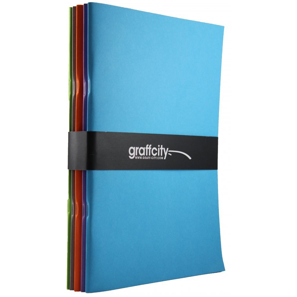 5x A4 sketchpads graff-city Sketch Book Paquete